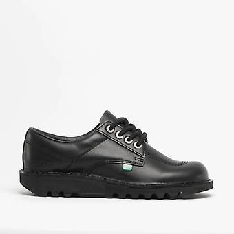 Kickers Kick Lo Ladies Sapatos de couro Preto