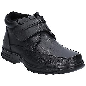 Caravelle Mens Vernon Comfort Strap Ankle Boot Black