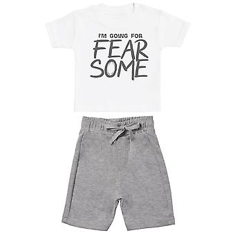 I'm Going For FEARSOME - Baby T-Shirt with Grey Baby Shorts - Baby Outfit