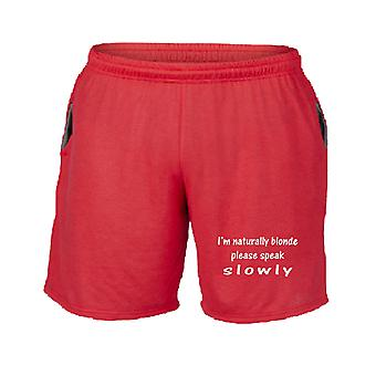 Pantaloncini tuta rosso fun2761 im naturally blonde speak slowly