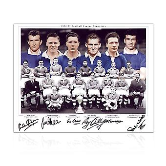 فريق تشيلسي 1955 وقع صورة فوتوغرافية
