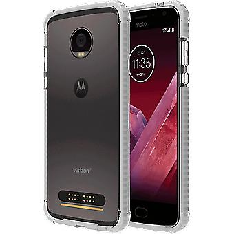 Verizon Två-Tone Bumper fall för Moto Z2 Play - Vit / Clear