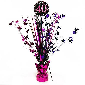 Amscan Sparkling Celebration 40th Birthday Centrepiece Spray Decoration