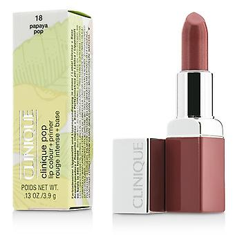 Clinique Pop Lip Colour + Primer - # 18 Papaya Pop-3.9g/0.13oz