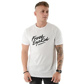 Fresh Ego Kid | Script Logo Print Half Sleeve - T-shirt