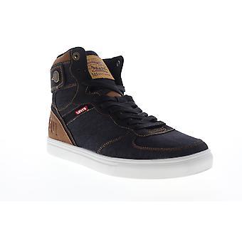 Levis Jeffrey HI 501 Denim  Mens Black Canvas High Top Sneakers Shoes