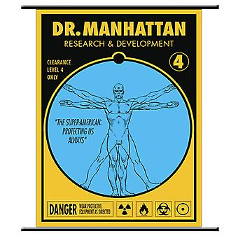 Watchmen Wall Scroll Dr Manhattan Pop Art