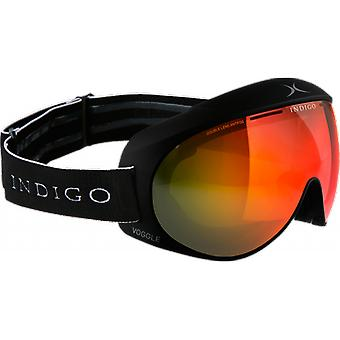 Indigo SKI mask OTG Voggle Black Mirror Red