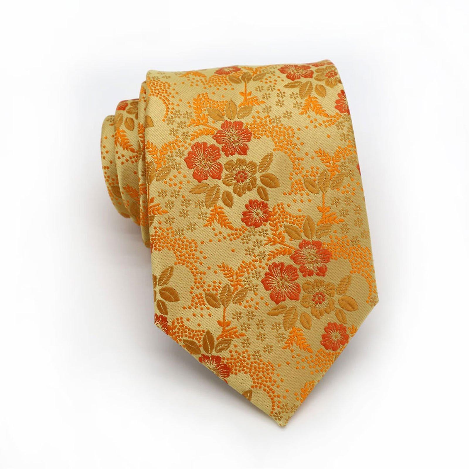 Orange & red wedding floral tie & pocket square set