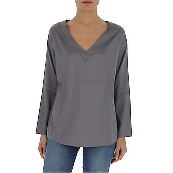 Fabiana Filippi Tpd260b156c0588134 Women's Grey Silk Blouse