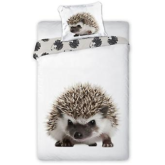 Hedgehog Single Cotton Dekbed Cover en pillowcase Set - Europese maat