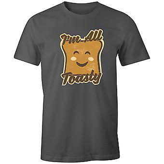 Jungen Crew Neck Tee Kurzarm Männer's T Shirt-I'm alle Toasty