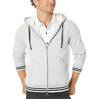 Mills Supply Men's Zip-Up Hoodie French Terry Sweatshirt, Grey Heather, M