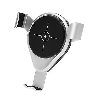 X9 10w qi wireless charger gravity linkage automatic lock air vent car phone holder car mount for 4.0-6.5 inch smart phone