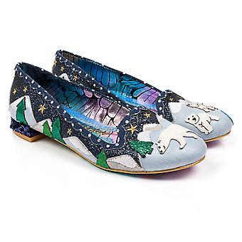 Womens Irregular Choice Binksy Bear Midnight Mountain Ballerinas Shoes