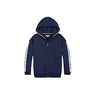 Tommy Hilfiger Girls Tommy Hilfiger Girl's Navy Tape Through Logo Hooded Jacket