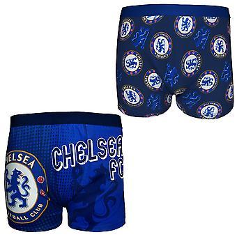 تشيلسي FC الرسميلكرة القدم هدية الرجال كريست بوكسر شورتز الأزرق