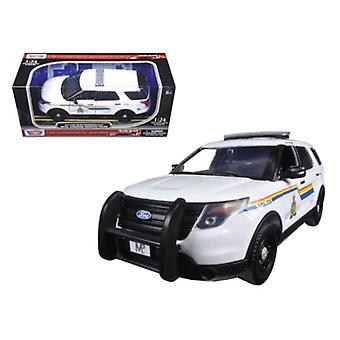 2015 Ford Police Interceptor Utility RCMP Royal Canadian Mounted Police Car with Light Bar 1/24 Diecast Model Car by Motormax
