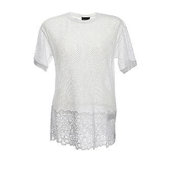 Ermanno Scervino Ts05ret10 Women's White Nylon T-shirt