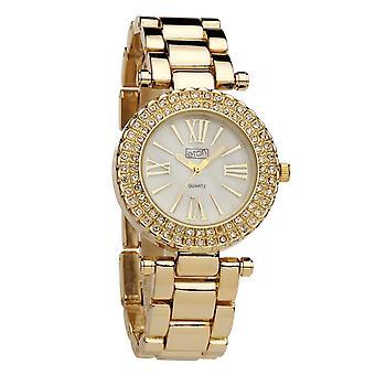 Eton Womens Fashion Bracelet Watch, Gold Tone, Mop Dial 3139J-GD