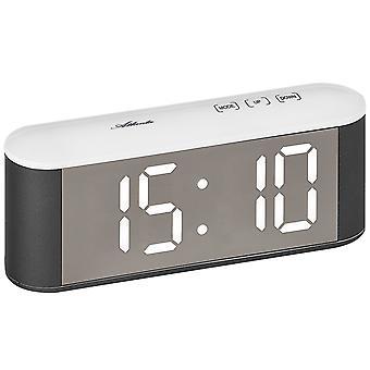 Atlanta 1133/0 Table alarm clock digital white Netzwecker digital alarm clock