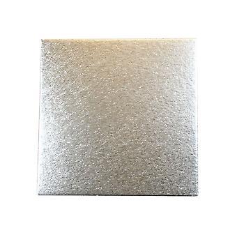 """Culpitt 10 """" (254mm) Doppel dick Platz Schnitt Rand Kuchen Karten Silber Farn (3mm dick) Packung mit 25"""