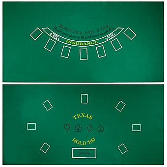 Blackjack and Texas Hold 'Em Felt