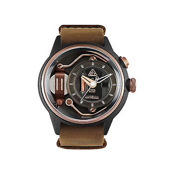 The Electricianz ZZ-A1C-02 The Mokaz Brown Strap Wristwatch