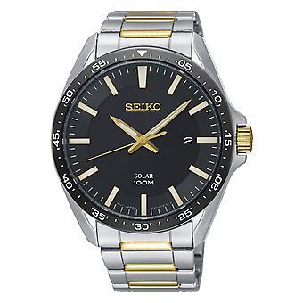 Seiko SNE485P1 Men's Two Tone Classic Solar Wristwatch