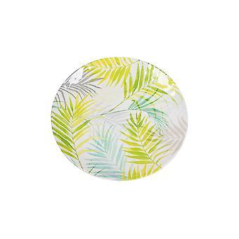 Piatti Borneo Colore Bianco, Verde in Melamina, L36xP36 cm