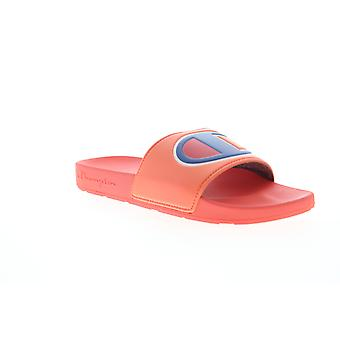 Champion Ipo  Mens Red Synthetic Slip On Slides Sandals Shoes