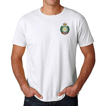 Royal Engineers RE Sappers Embroidered Logo - Official British Army Ringspun T Shirt
