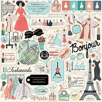 Carta Bella En Vogue 12x12 Tuuman Elementti Tarra