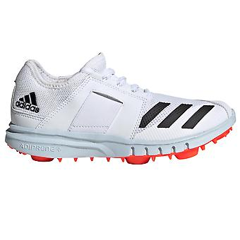 adidas Howzat 20 Kids Cricket Spike Trainer Shoe White/Orange