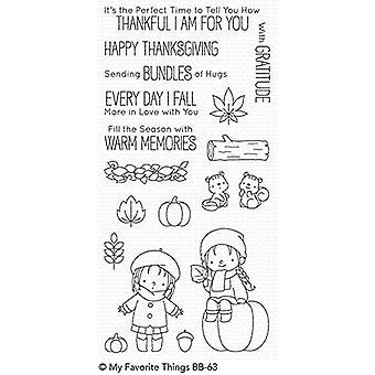 Mijn favoriete dingen Fall Vrienden Clear Postzegels