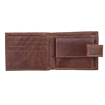 Primehide Mens Leather Travel Wallet RFID Blocking Gents Notecase ID Window 4151