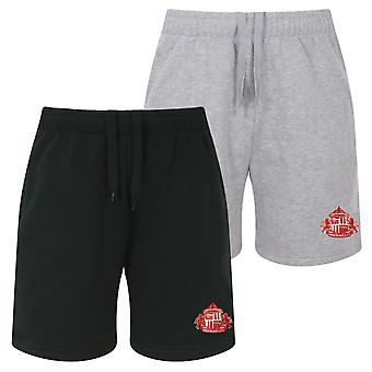 Sunderland AFC Official Football Gift Mens Fleece Jogger Shorts