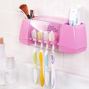 Ympäristöystävällinen muovinen hammasharjateline Kylpyhuoneen järjestäjä - Hammastahna, Parranajokone,