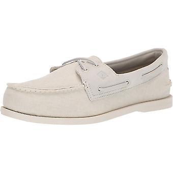 SPERRY Men's A/O 2-Eye Linen Boat Shoe