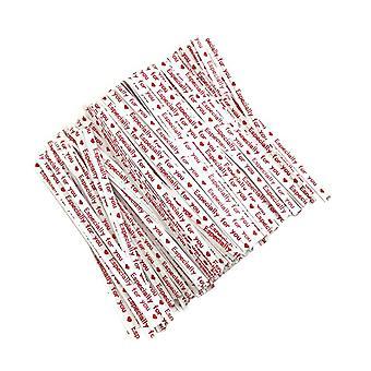700PCS Opakowanie do pieczenia Papier kraft Drut biały