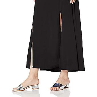 Star Vixen Women's Petite Modest Soft Knit Pull-On Midi-Length Skirt, Black, PM