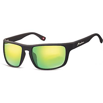 Sunglasses Unisex Cat.3 matt black/green (SP314E)