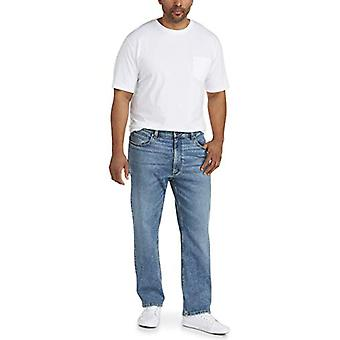 Essentials Men's Straight-Fit Stretch Jean, Light Wash, 36W x 29L