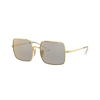 Ray-Ban Square RB1971 001/B3 Shiny Gold/Photo Dark Grey Mirror Gold Sunglasses