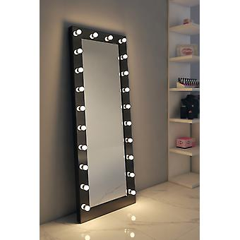 Diamond X Gloss Svart Hollywood Makeup Garderobe Speil K602CW