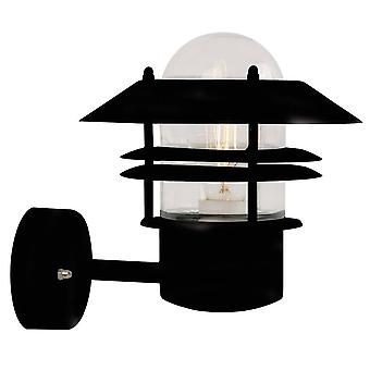 1 Light Outdoor Wall Lantern Black IP54, E27