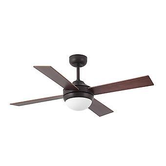 Faro Mini 2 leichte kleine Decke Fan Holz, Rost mit Licht, E14
