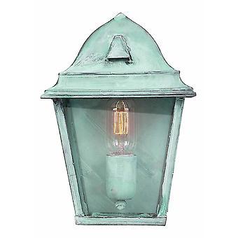 1 Light Outdoor Wall Lantern Light Verdigris IP44, E27