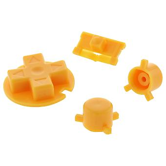 Zedlabz replacement button set a b d-pad power switch for nintendo game boy pocket - yellow