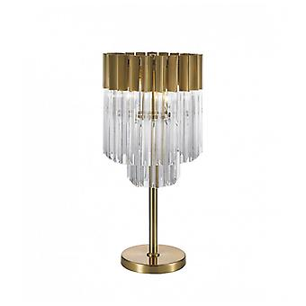 Cube Table Lamp 3 Brass 40,5 Cm